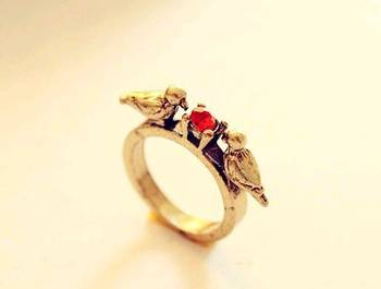 Morcrest Love Birds Ring