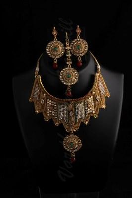 polki wedding necklace designs vgnl 508