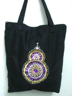 Beautiful designed black handbag