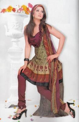 Crepe dress material elegant designer unstitched salwar suit d.no 7319