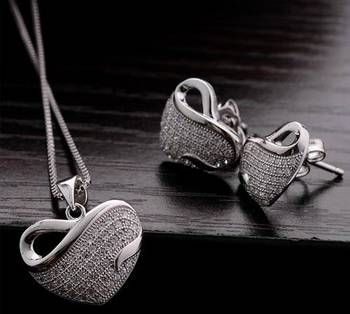 Morcrest Swan Heart Necklace Set